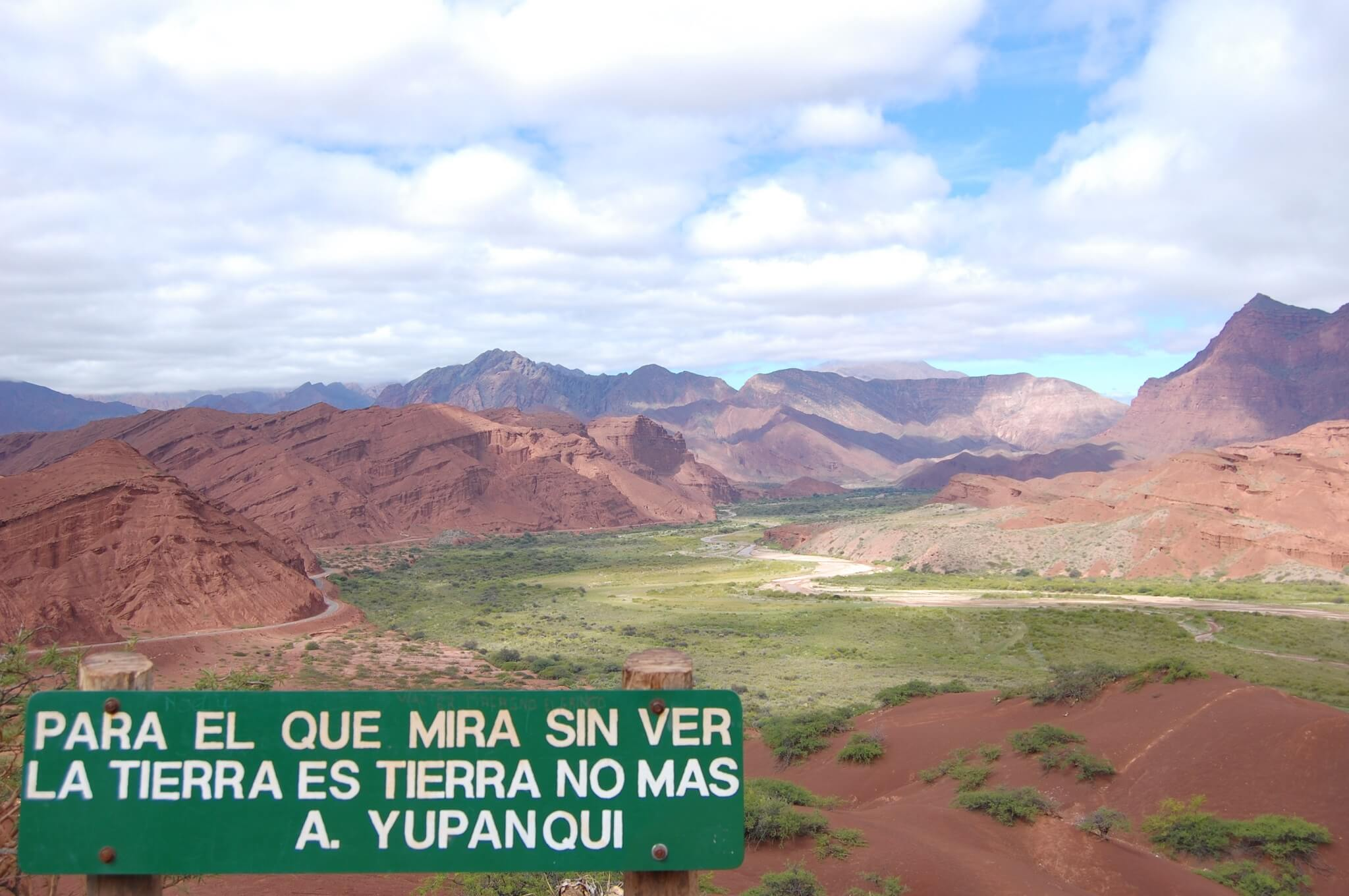"""For the one who looks without seeing the earth is no more than earth"" A. Yupanqui."