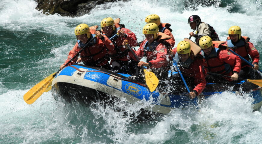 Rafting to the border